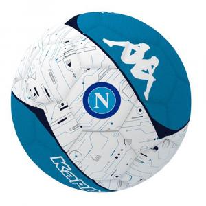 Ballon de Foot Kappa Blanc et Bleu Naples