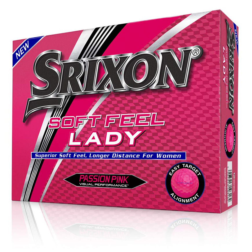 Boîte de 12 Balles de Golf Srixon Soft Feel Ladies Rose Passion