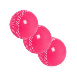 Lot de 3 balles de Cricket roses Gray-Nicolls Velocity