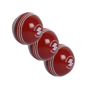 Lot de 3 balles de Cricket rouges Gray-Nicolls Wonderball