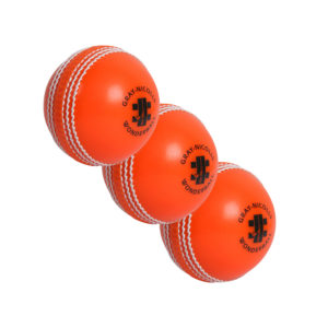Lot de 3 balles de Cricket oranges Gray-Nicolls Wonderball
