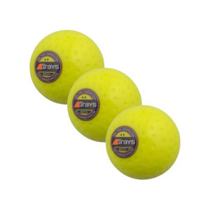 Lot de 3 balles jaunes de Hockey Grays Astrotec