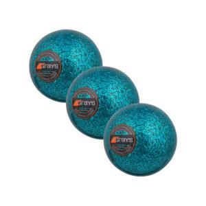 Lot de 3 balles bleues de Hockey Grays Glitter