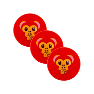 Lot de 3 balles de Hockey Grays Emoji Cheeky Monkey