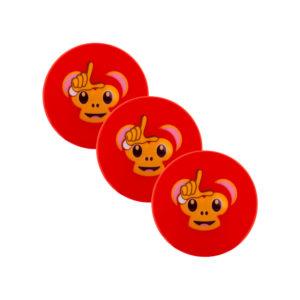 Lot de 3 balles de Hockey Grays Emoji Banter Monkey