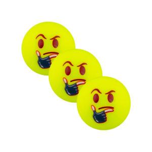 Lot de 3 balles de Hockey Grays Emoji Thoughtful