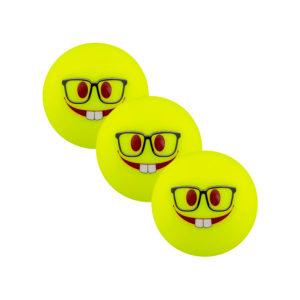 Lot de 3 balles de Hockey Grays Emoji Geeky