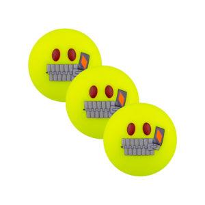 Lot de 3 balles de Hockey Grays Emoji Silent