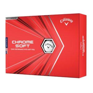 Boite de 12 Balles de Golf Callaway Chrome Soft Blanches