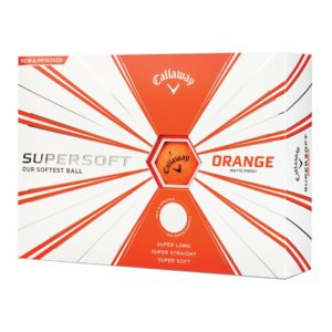 Boite de 12 Balles de Golf Callaway Supersoft Matte Oranges