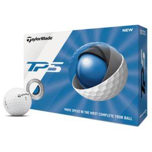 Boite de 12 Balles de Golf TaylorMade TP5 Blanches