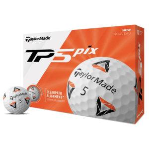 Boite de 12 Balles de Golf TaylorMade TP5 Pix Blanches