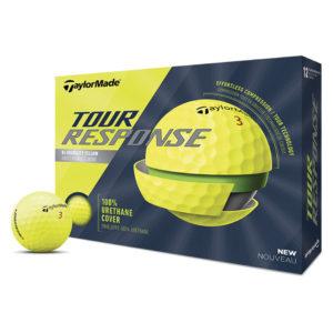 Boite de 12 Balles de Golf TaylorMade Tour Response Jaunes