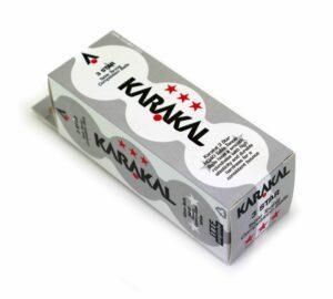 Balles de Tennis de Table Karakal 3 étoiles Blanche