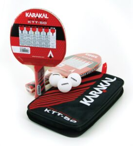 Kit de 2 Raquettes de Ping Pong Karakal + 3 Balles