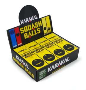 Balles de Squash Karakal Double Point Jaune