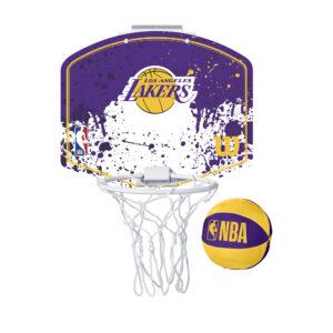 Mini panier de Basket Wilson NBA des Los Angeles LAKERS