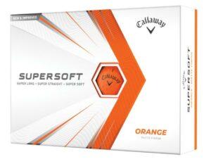 Boite de 12 Balles de Golf Callaway Supersoft Matte Oranges