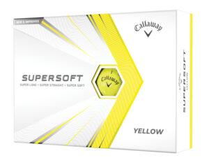 Boite de 12 Balles de Golf Callaway Supersoft Jaunes